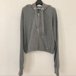 Abercrombie & Fitch Cropped Zip-up Hoodie